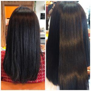 捻転毛の髪質改善ヘアエステ施術例