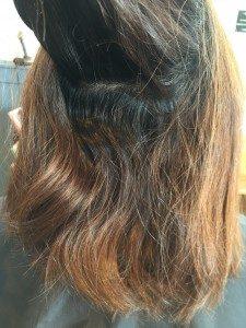 うねりの強い固い髪のお客様の縮毛矯正施術例