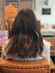 秦野美容室サロンドエメの髪質改善 スタッフの施術例