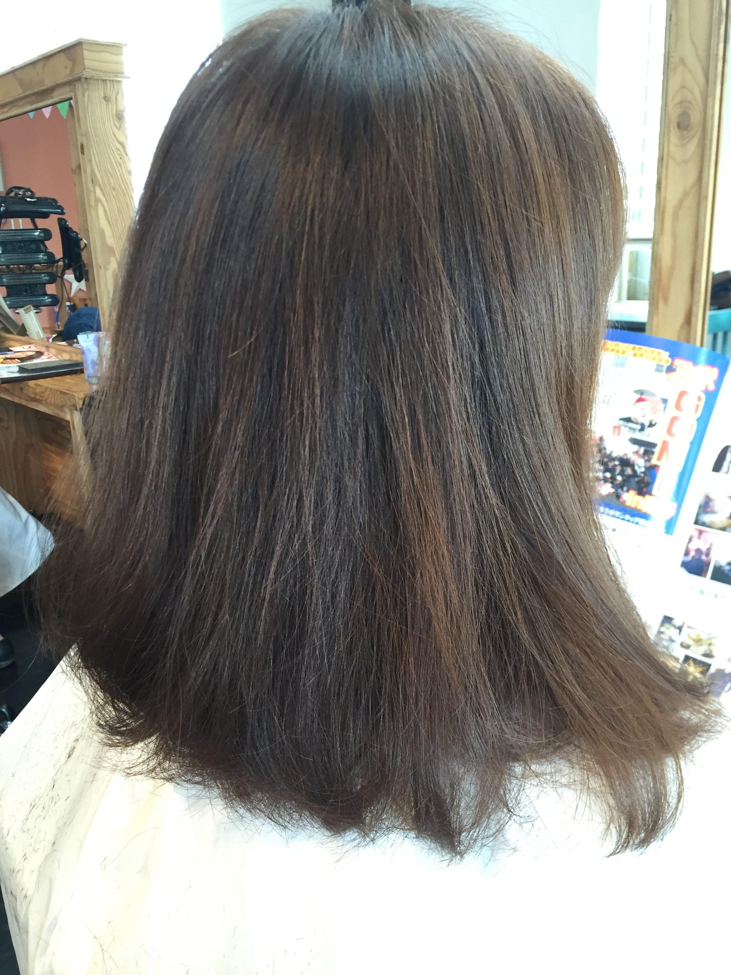 髪質改善カラー ビフォー