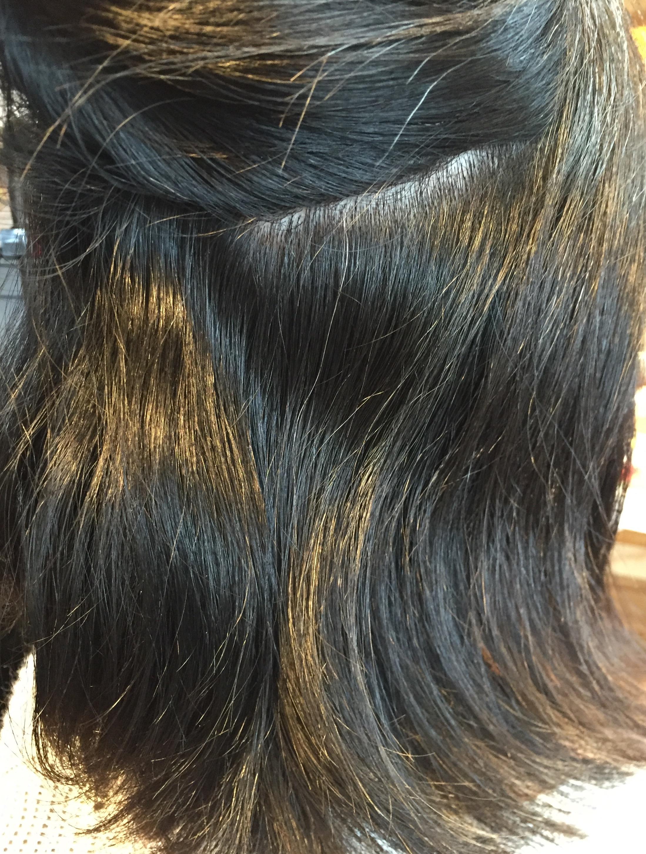 サロンドエメのノーアイロン縮毛矯正施術例