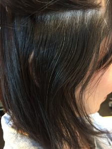 サイドのノーアイロン縮毛矯正