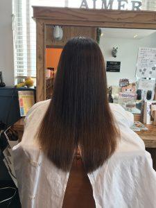 エイジング毛の縮毛矯正