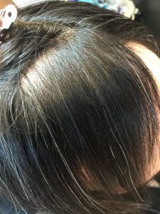 一番くせの強い前髪