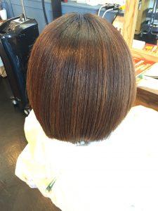 髪質改善縮毛矯正 アフター
