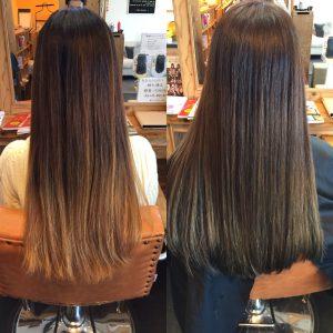 髪質改善ツヤ髪カラー