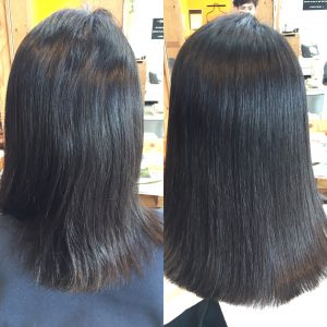 髪質改善トリートメントビフォーアフター