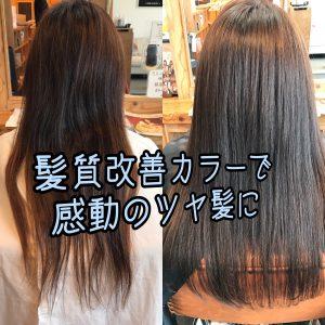 髪質改善カラーカット