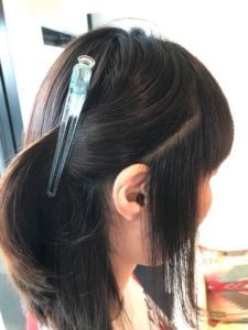 自然な内巻きボブ 前髪も自然なストレートヘアになる縮毛矯正の秦野サロンドエメ