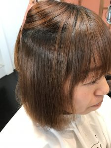 自然な前髪