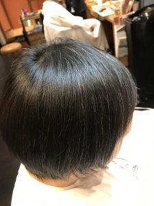 ノーアイロン縮毛矯正 アフター
