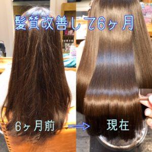 秦野サロンドエメの縮毛矯正 髪質改善 ビフォーアフター