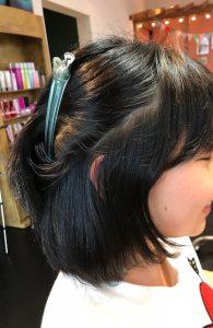 中学生の縮毛矯正 サイドと前髪