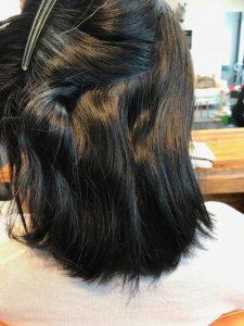 ボブの縮毛矯正 内側のくせ毛