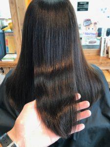 ツヤのある綺麗な髪に