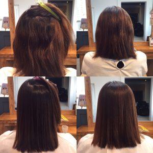 うねる髪を縮毛矯正でまとまりよく