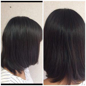 髪質改善の一週間後
