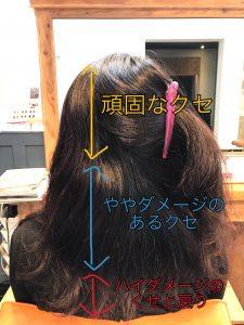 ママさんの縮毛矯正の施術例