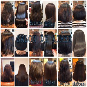 縮毛矯正や髪質改善の施術例