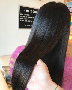 水分がたっぷりの髪の毛
