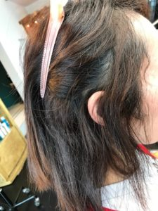 前髪のくせが強いボブの縮毛矯正