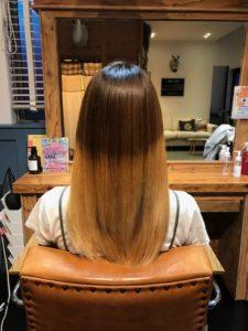 髪質改善後のツヤ髪
