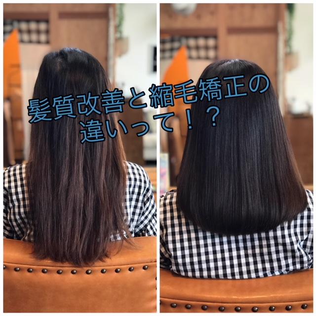 髪質改善と縮毛矯正の違いって何?